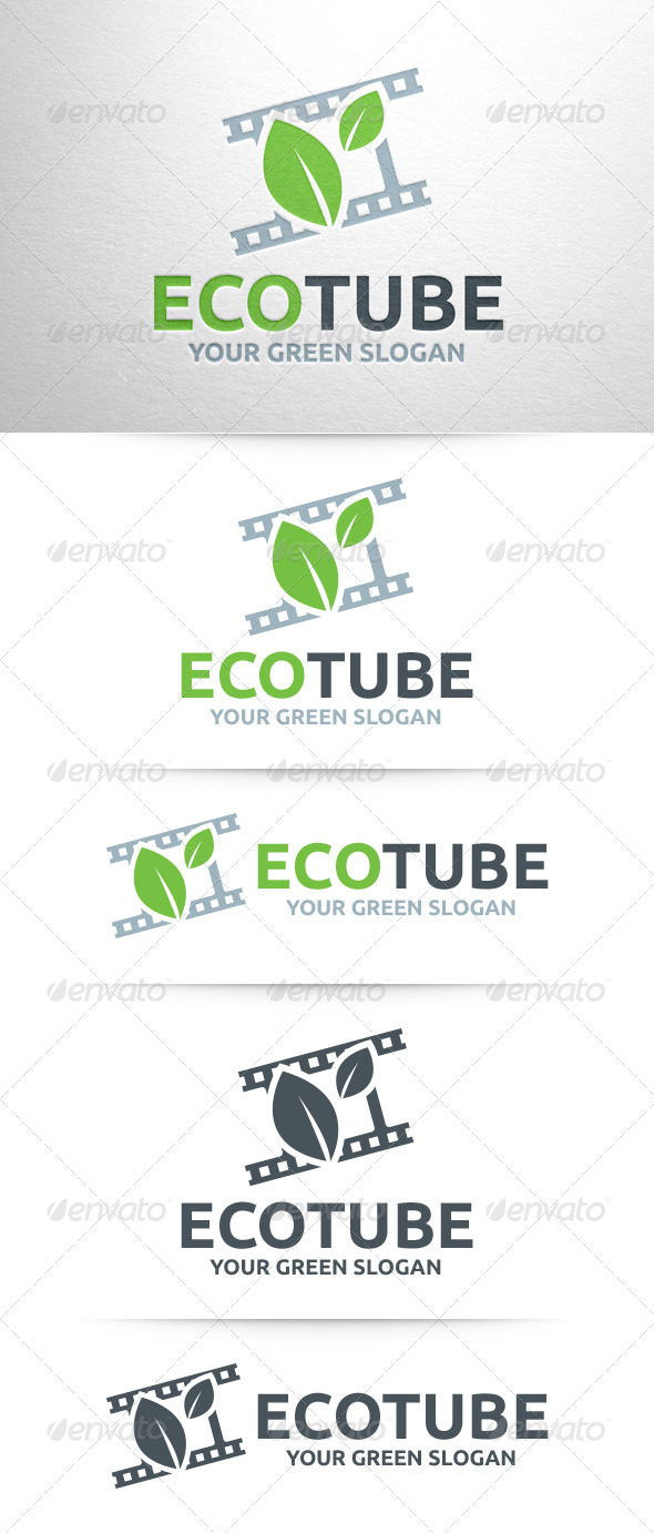 GraphicRiver Eco Tube Logo Template 7937694