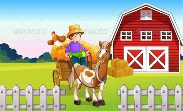 GraphicRiver A Boy at the Farm 7937857