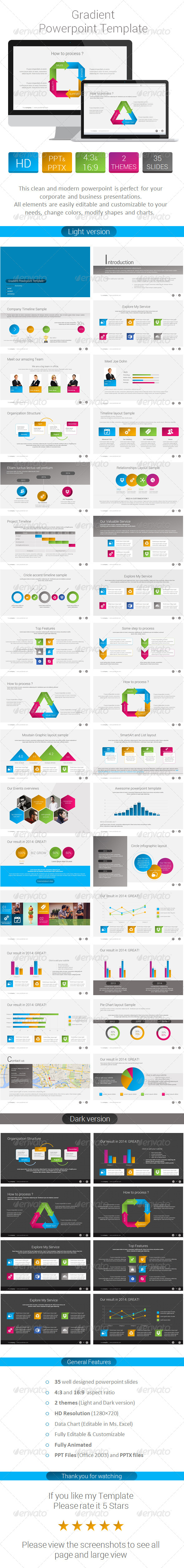 GraphicRiver Gradient Powerpoint Template 7938336