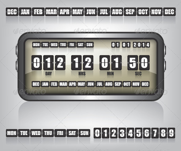 GraphicRiver Countdown Timer and Date Illustration 7939028