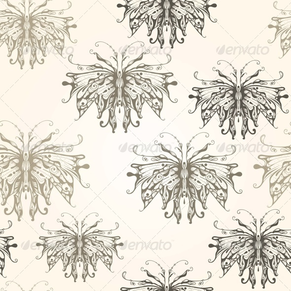 GraphicRiver Vector Seamless Pattern with Vintage Style Butter 7932279
