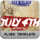 July Patriotic 4th Flyer Template - GraphicRiver Item for Sale