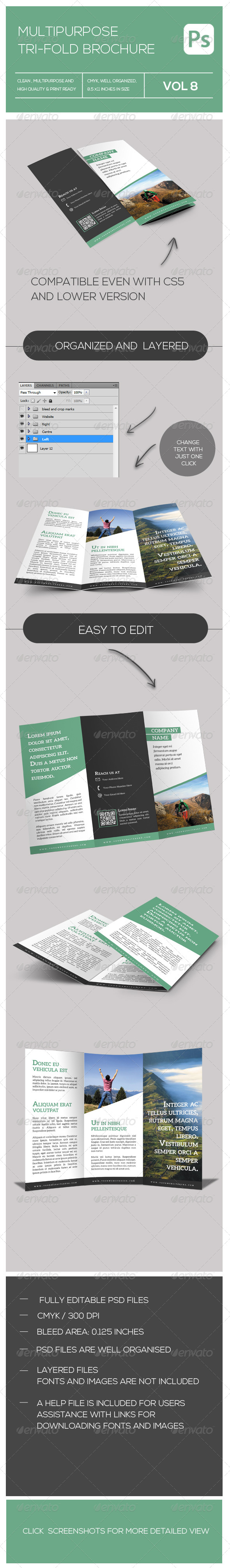 GraphicRiver Tri-fold Multipurpose Corporate Brochure 7939990