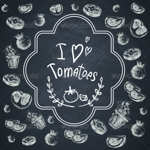 GraphicRiver Hand Drawn Sketch of Tomatoes 7940375