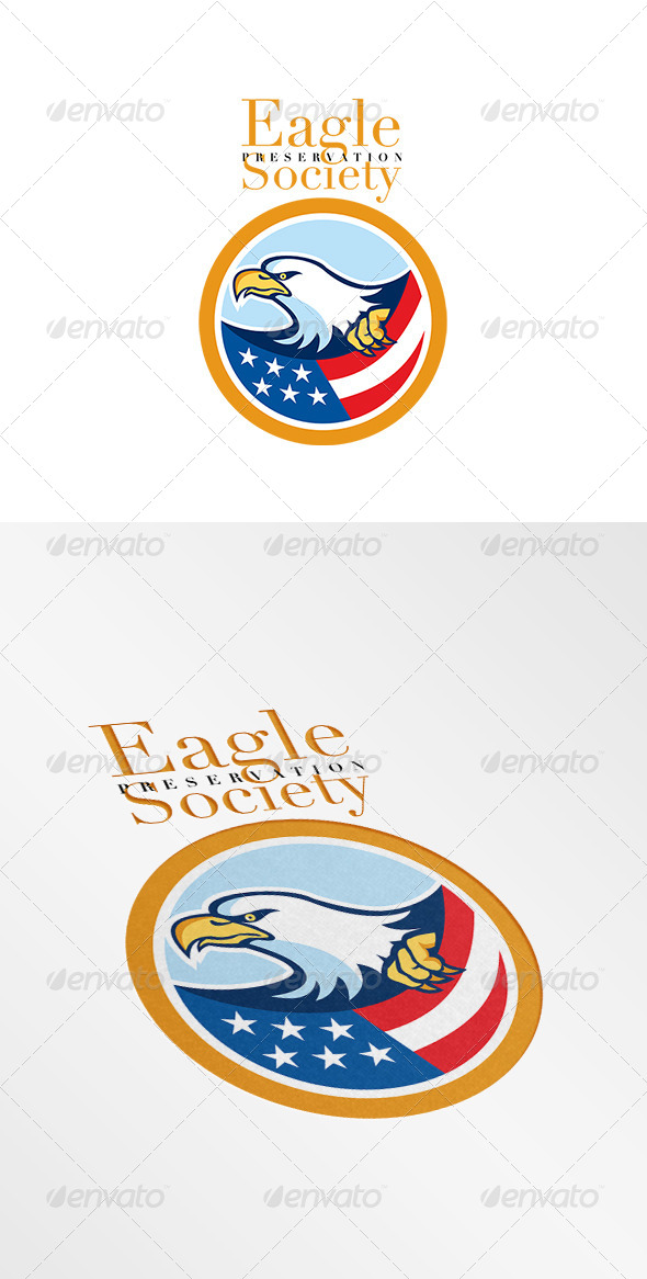 GraphicRiver American Eagle Preservation Society Logo 7941249