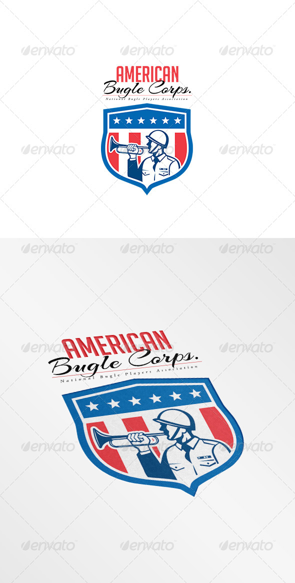 GraphicRiver American National Bugle Association Logo 7941319