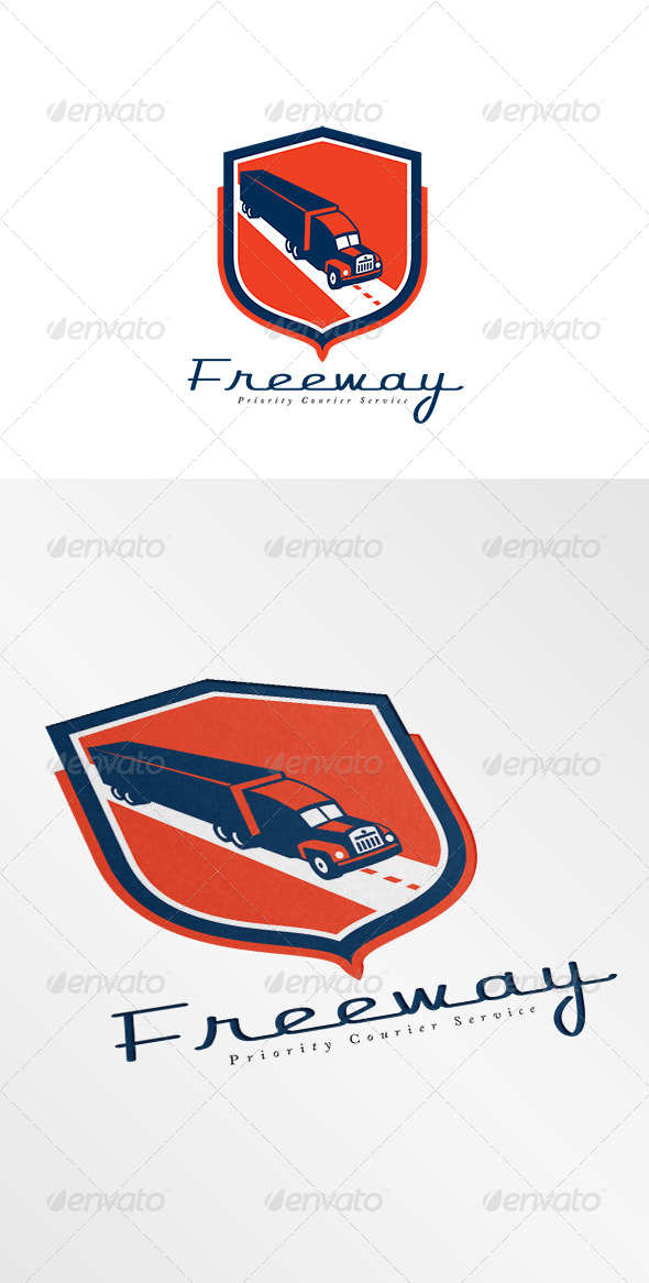 GraphicRiver Freeway Priority Couriers Logo 7941367