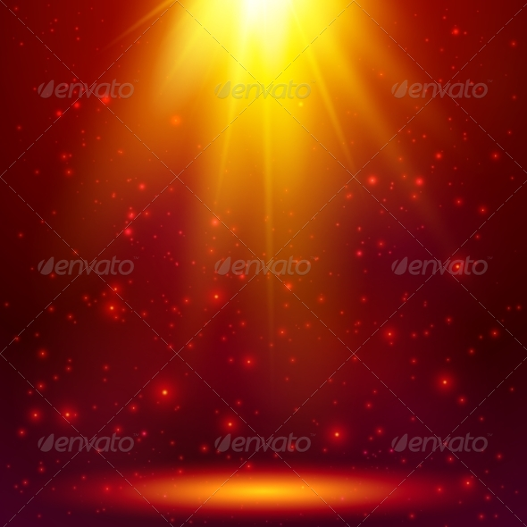 GraphicRiver Red Shining Magic Vector Light Background 7941511
