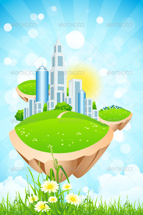 GraphicRiver Business City on Island 7941683