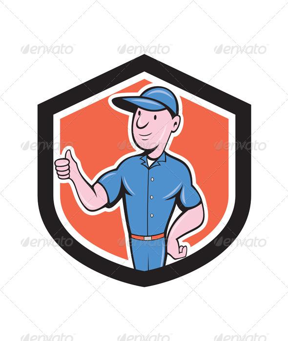 GraphicRiver Handyman Repairman Thumbs Up Cartoon 7941745