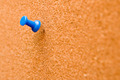 Blue Push Pin Stuck into a Cork Board - PhotoDune Item for Sale