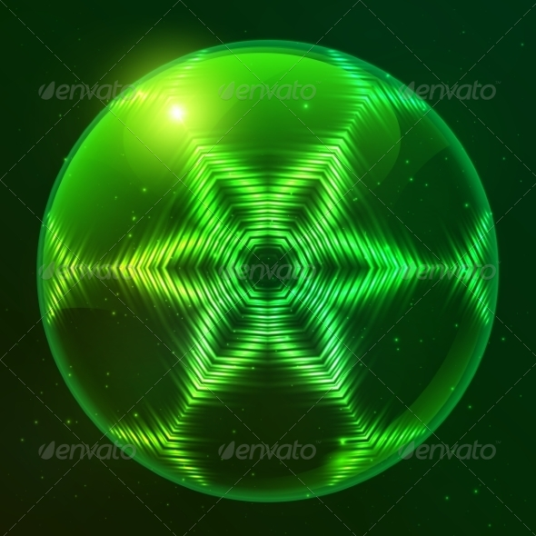 GraphicRiver Green Shining Techno Vector Sphere 7941840