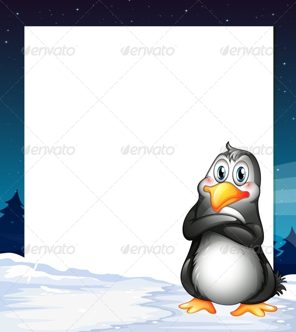 GraphicRiver An Empty Template with a Penguin 7943045