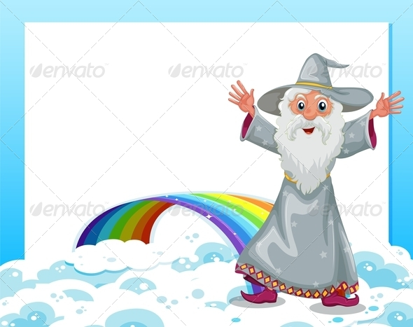 GraphicRiver An Empty Template with a Wizard and a Rainbow 7943064