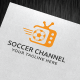 Soccer Channel Logo Template - GraphicRiver Item for Sale