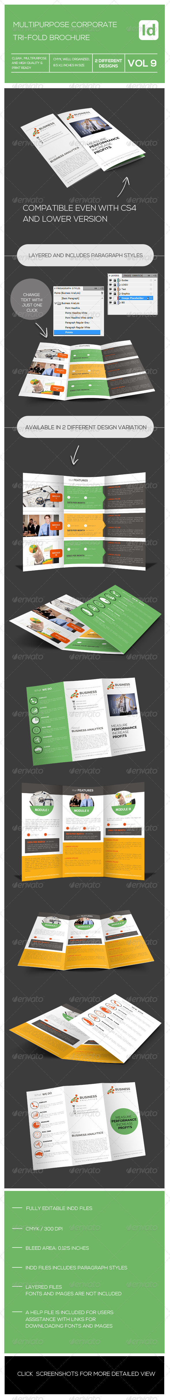 GraphicRiver Tri-fold Multipupose Corporate Brochure 7945002