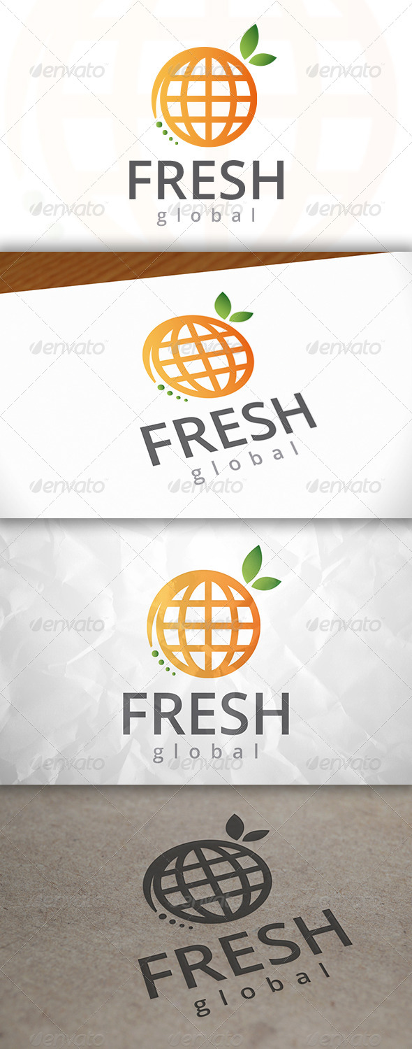 GraphicRiver Fresh World Logo 7946609