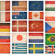Grunge flags: USA, Great Britain, Italy, France, Denmark, German - PhotoDune Item for Sale