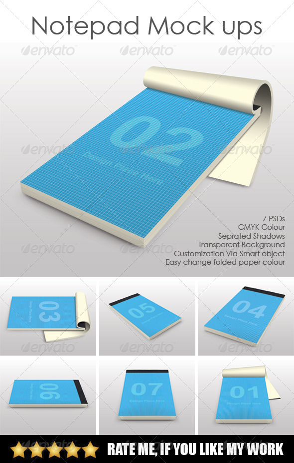 GraphicRiver Notepad mock ups 7947436