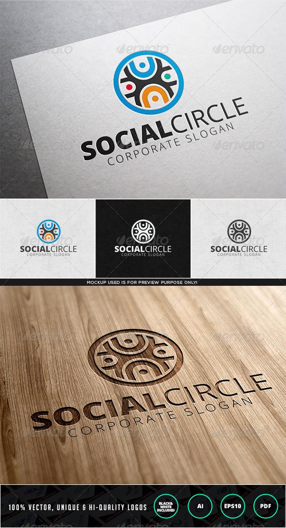GraphicRiver Social Circle Logo template 7947504