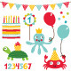 Birthday Kid Party Set - GraphicRiver Item for Sale