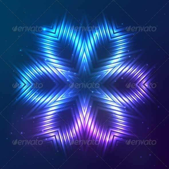 GraphicRiver Cosmic Shining Vector Abstract Flower 7948129