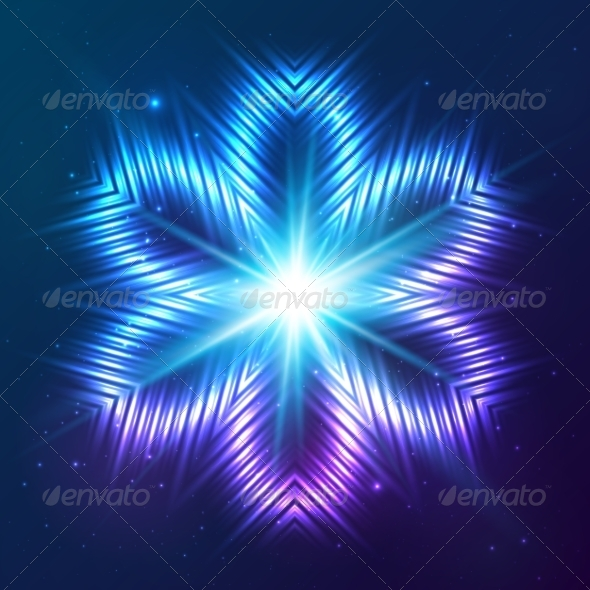 GraphicRiver Cosmic Shining Vector Abstract Flower 7948130