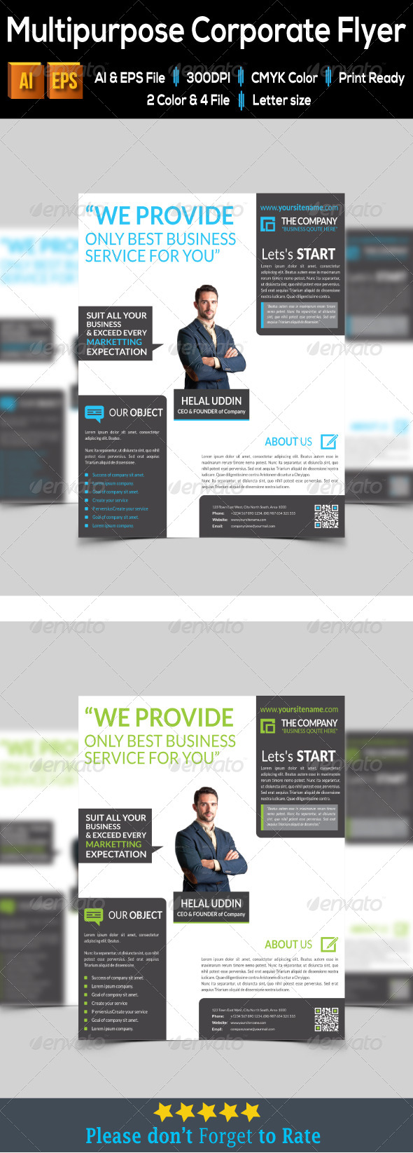 GraphicRiver Multipurpose Corporate Flyer 7948871