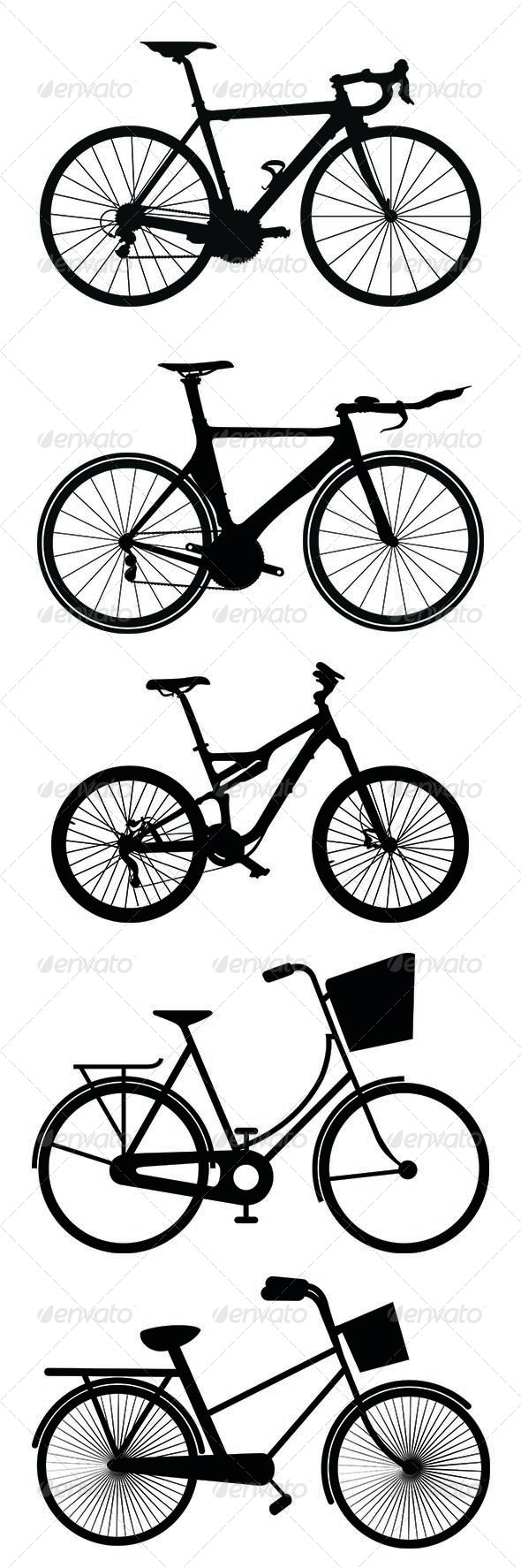 GraphicRiver Bicycle Silhouettes 7949143