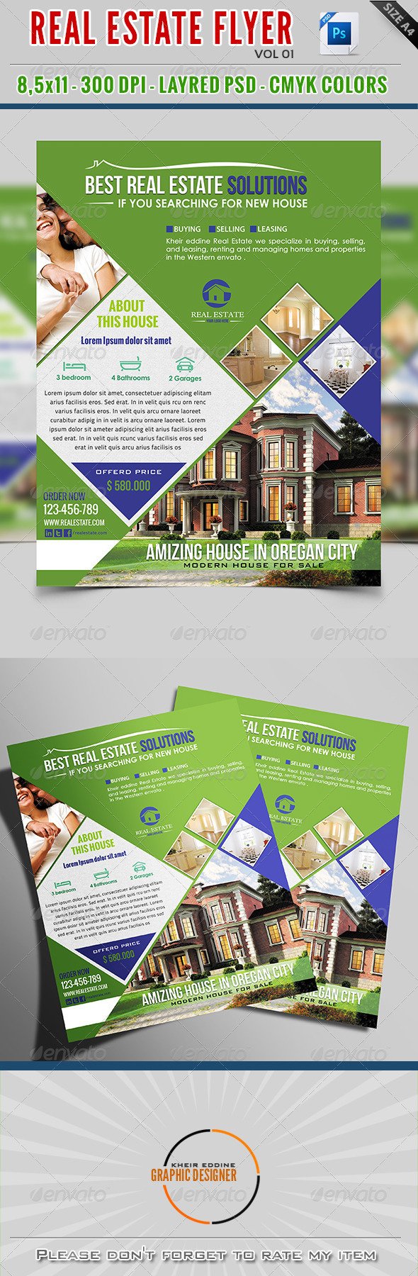GraphicRiver Real Estate Flyer Vol 01 7949954
