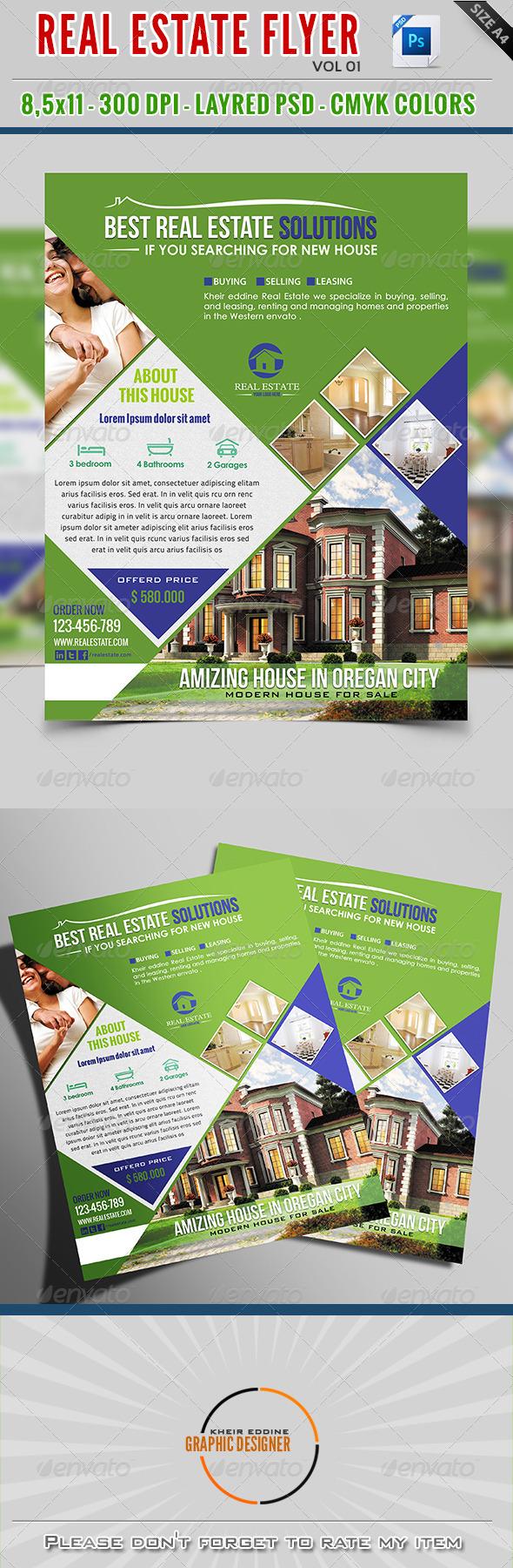 GraphicRiver Real Estate Flyer Vol 01 7949954
