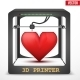 3D Printed Heart - GraphicRiver Item for Sale