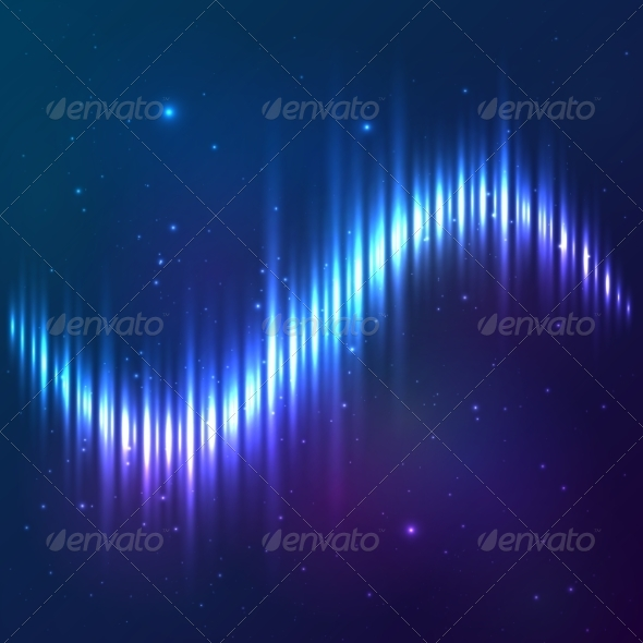 GraphicRiver Blue Cosmic Equalizer 7950523