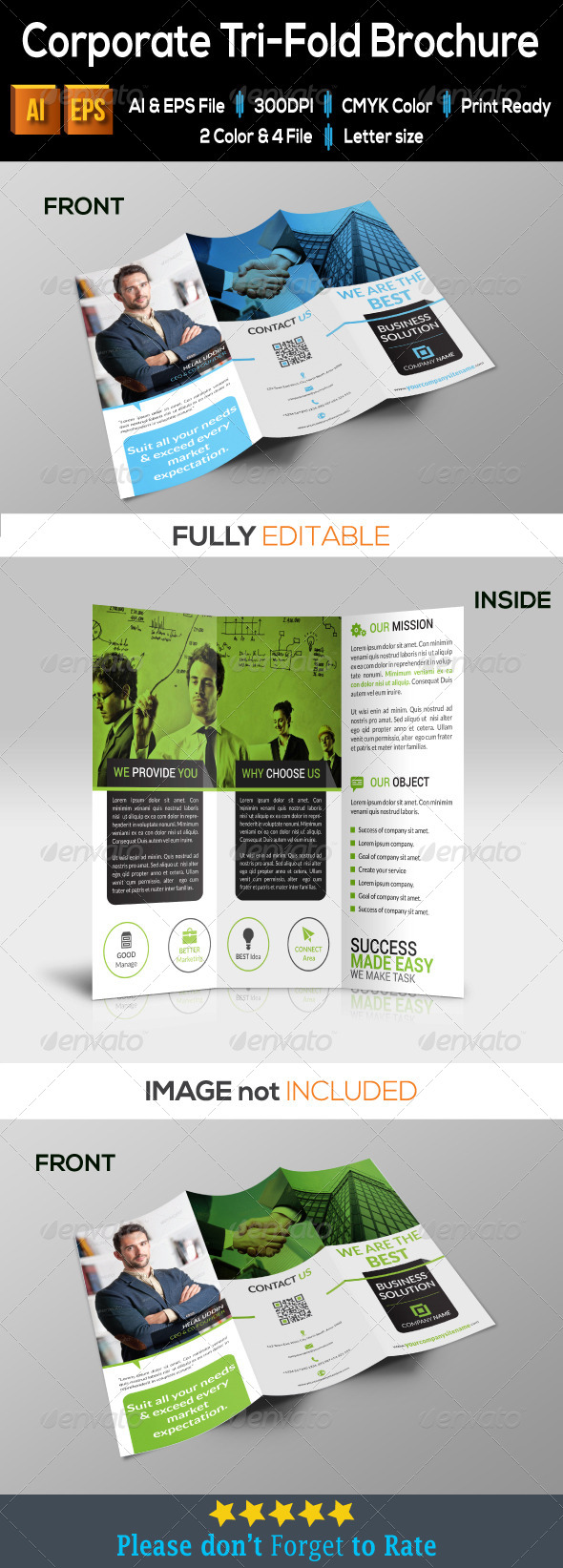 GraphicRiver Corporate Tri-Fold Brochure 7951580