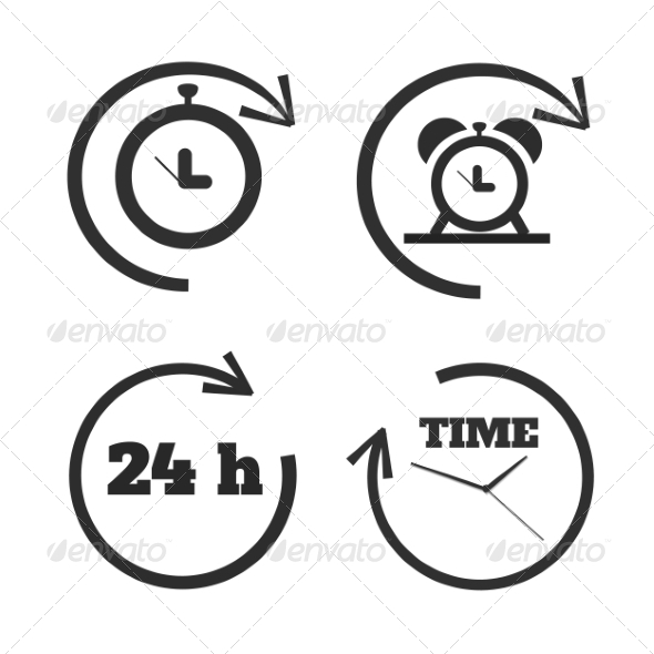 GraphicRiver Set of Time Icons 7951869