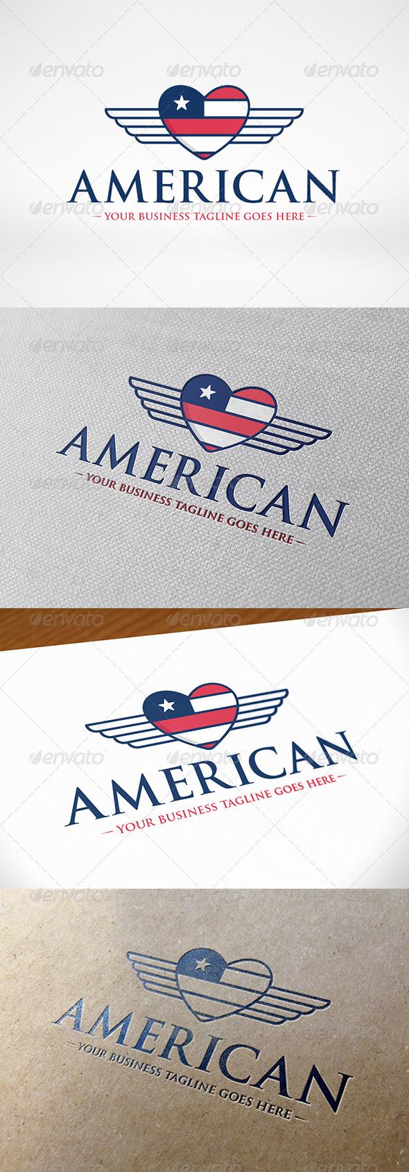 GraphicRiver American Love Logo Template 7951887