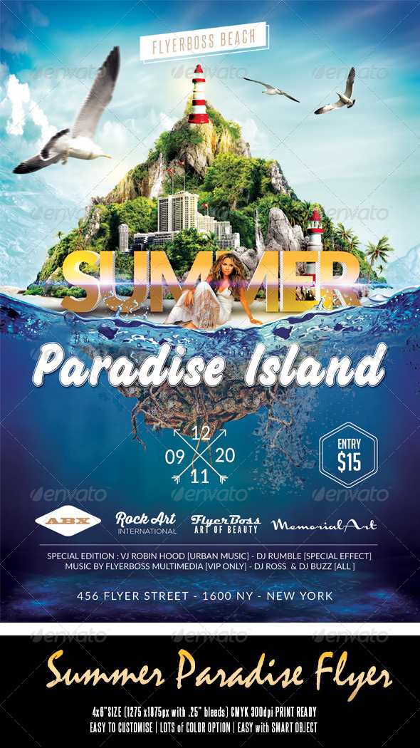 GraphicRiver Summer Paradise Flyer 7952028