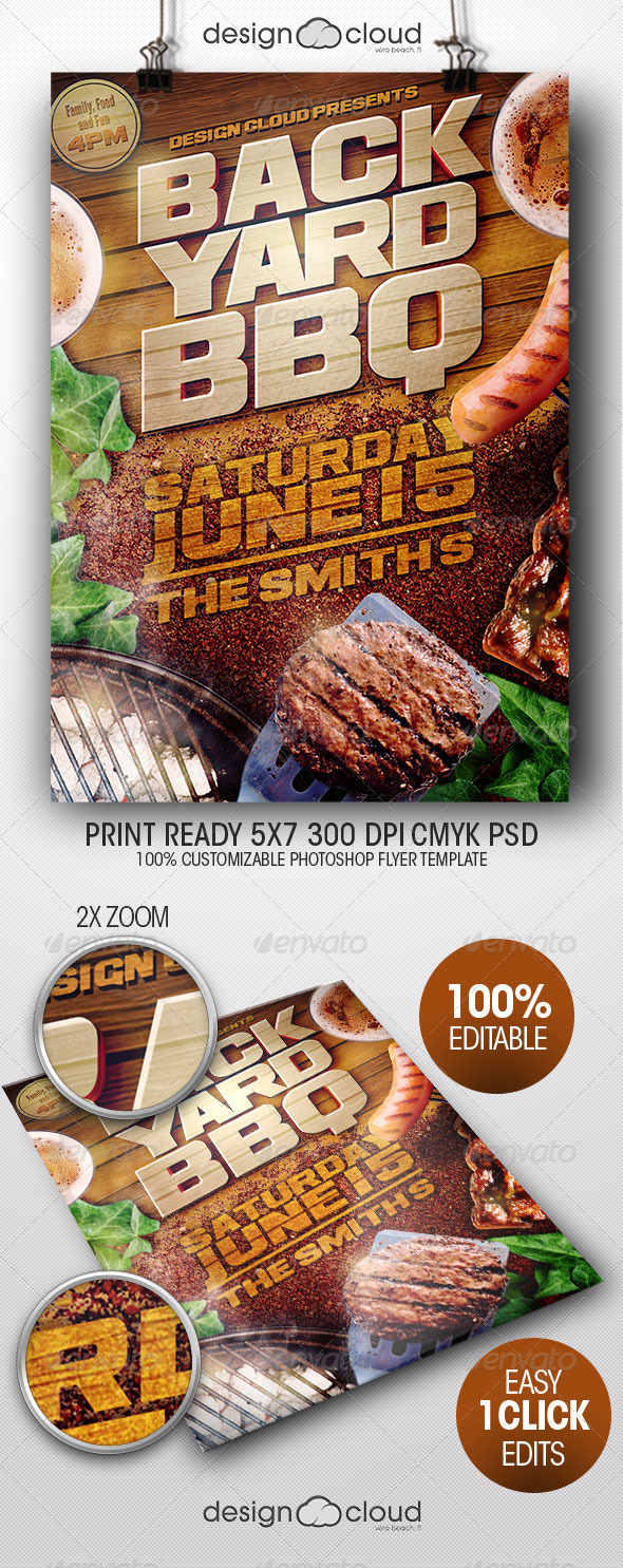GraphicRiver Backyard BBQ II Flyer Template 7952040