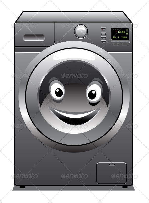 GraphicRiver Smiling Washing Machine 7952651
