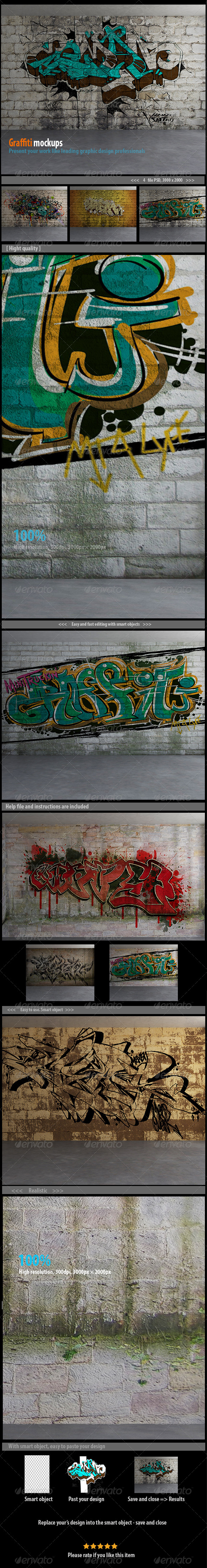 GraphicRiver Graffiti Mockups 7953519