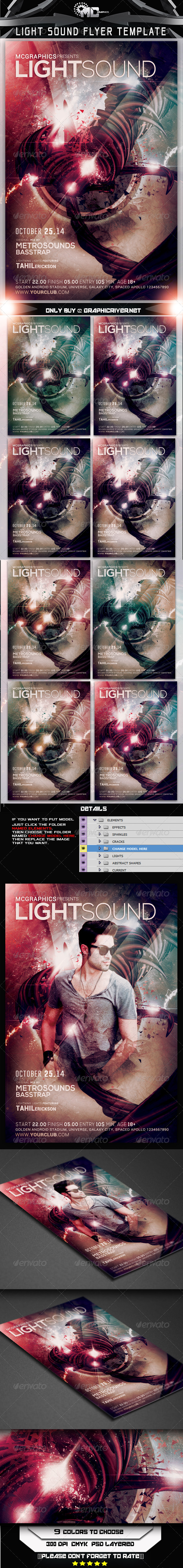 GraphicRiver Light Sound Flyer Template 7910601