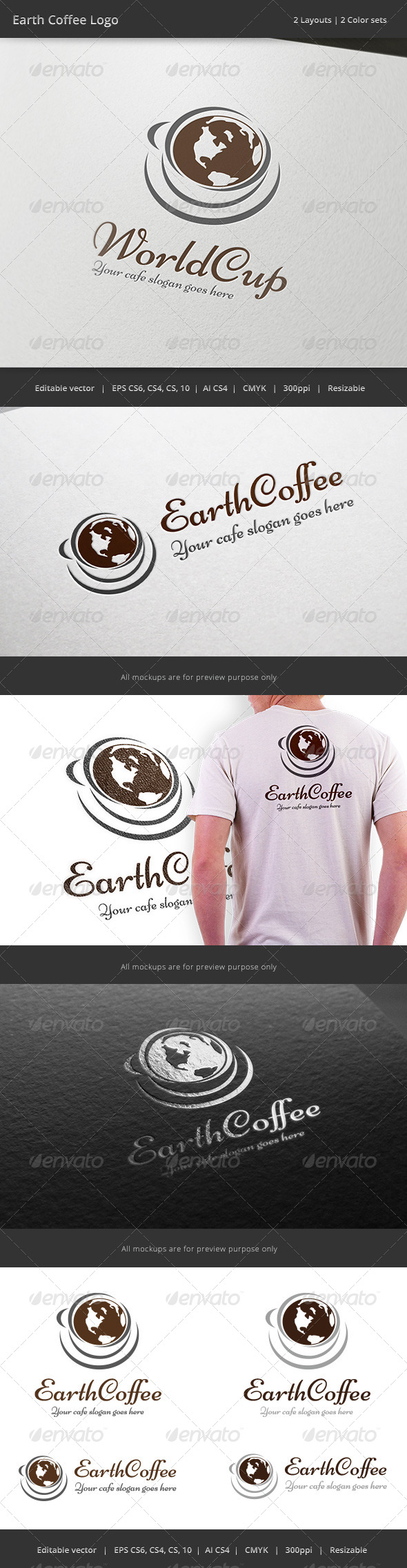 GraphicRiver World Coffee Cup Logo 7954185