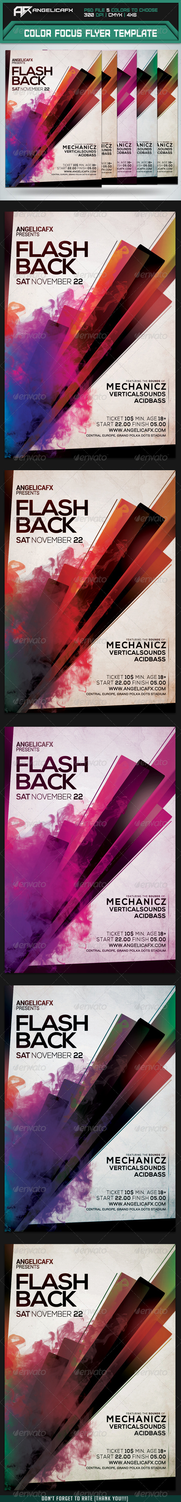 GraphicRiver Flash Back Flyer Template 7954593