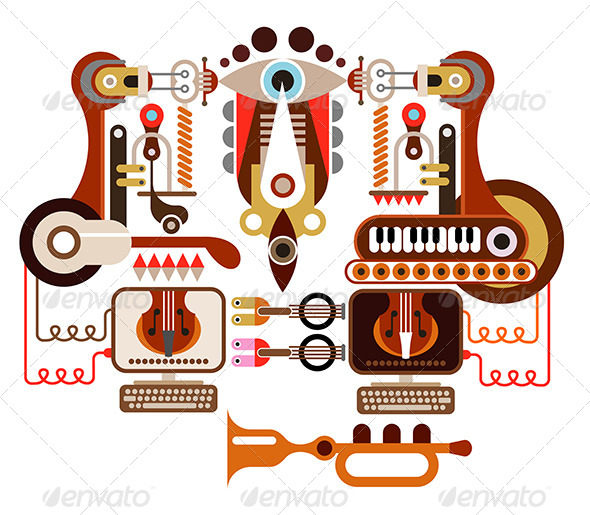 GraphicRiver Musical Laboratory 7954765