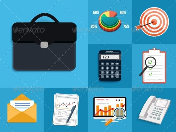 GraphicRiver Set of Various Financial Service Items 7954772