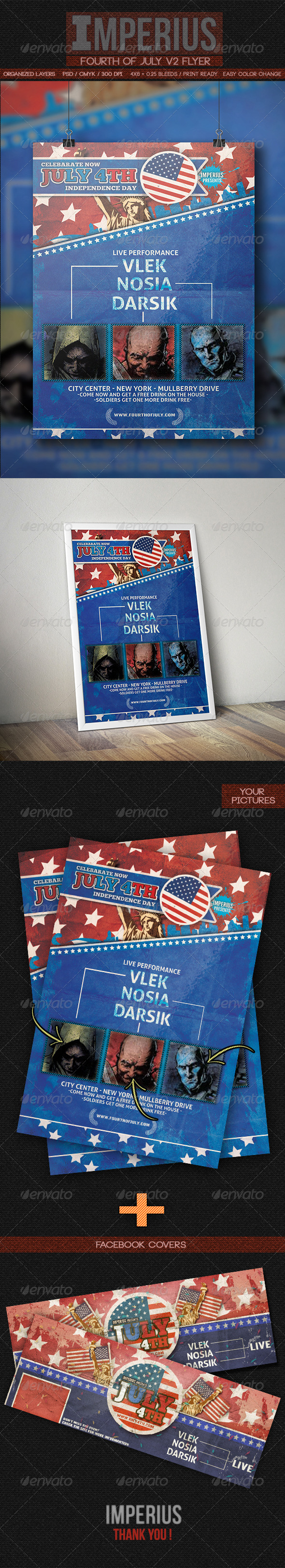 GraphicRiver Fourth of July V2 7954903
