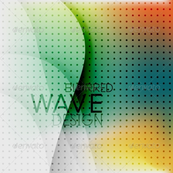 GraphicRiver Colorful Blurred Wave Business Background 7955132