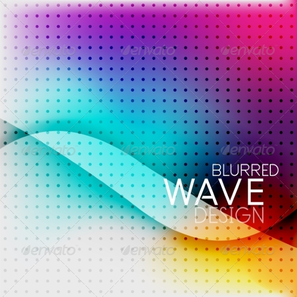 GraphicRiver Colorful Blurred Wave Business Background 7955138
