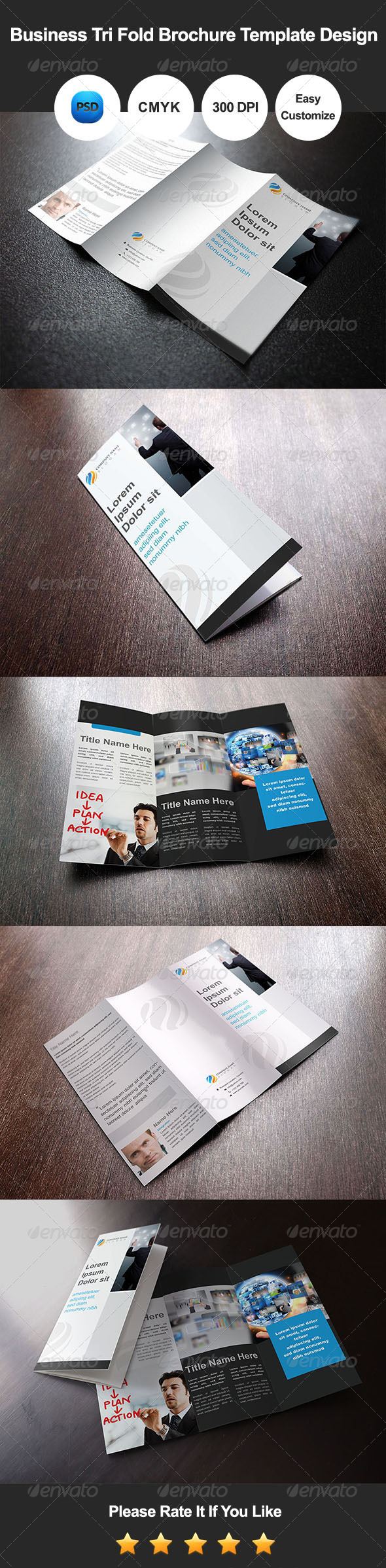 GraphicRiver Business Tri Fold Brochure Template Design 7955456