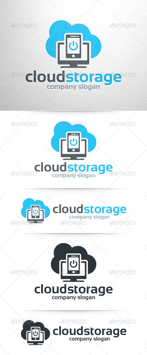 GraphicRiver Cloud Storage Logo Template 7955457